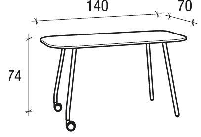 Tavolo 140x70