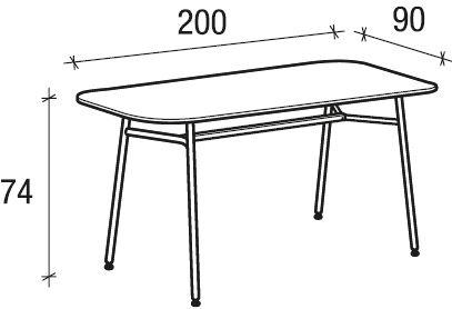 Tavolo 200x90 [+€166,00]
