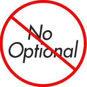 Non ho bisogno di Optionals