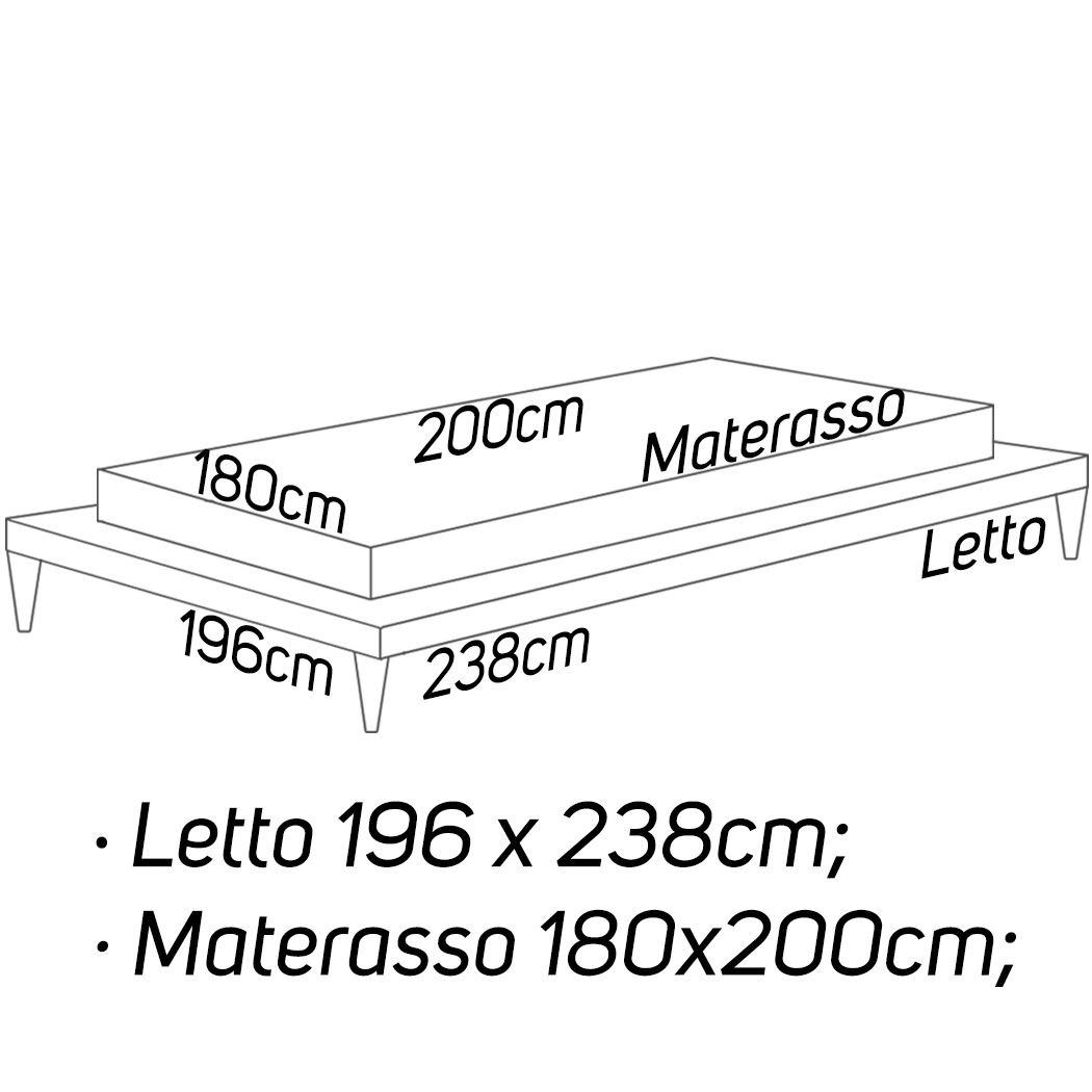 L: 196 x 238 - M: 180 x 200 [+€166,00]